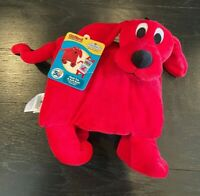 Zoobies Clifford The Big Red Dog Book Buddies Plush With Cloth Book - New