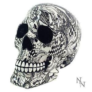 Abstraction Skull Pop Art 14cm High Ornament Nemesis Now Gothic Halloween