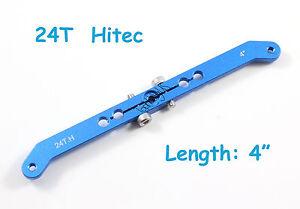 "4"" Heavy Duty Aluminum 24T Hitec Dual Servo Arm Horn RC Model (US SELLER/SHIP)"