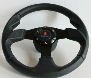 Steering Wheel Fits SUZUKI SAMURAI Sidekick Santana Jimny Swift 81-98 Leather