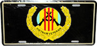 "Black Vietnam Veteran 6""x12"" Aluminum License Plate Tag MADE in USA"
