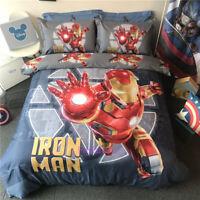 Red Iron Man Single/Queen/King Bed Quilt/Doona/Duvet Cover Set 100% Cotton
