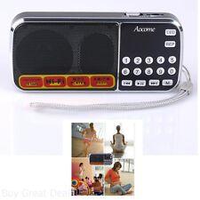 Aocome Portable Mini AM FM Radio Clear Speaker Music Player Micro SDTF Card Slot
