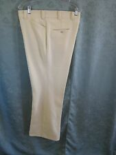 Vintage Size 38 X 31 Levis Panatela Yellow & White Striped Slacks