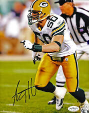 AJ Hawk Autographed Greenbay Packers 8X10 Photograph