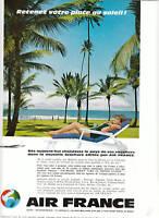 Publicité anciennes Air France 1961 issue de magazine