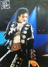 Michael Jackson - Hand OIL PAINTING canvas signed POP ART Music MJ King Of Pop