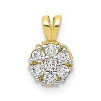 10k Yellow Gold Small CZ Flower Charm Pendant - 10C991VJ1415
