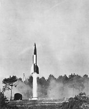 "German V-2 Rocket fired by the British 8""x 10"" World War II Photo 342"