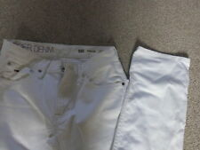 UNISEX HILFIGER WHITE JEANS RYDER COTTON TROUSERS Sz 29 HOLIDAY LONG LEG 34 INCH