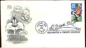 (5og) FDC 3204a Sylvester & Tweety - Artcraft