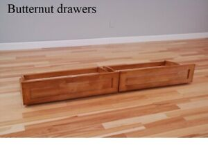 Set of 2 castered drawers for Kodiak Queen futon, butternut or espresso.