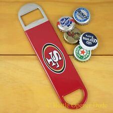 San Francisco 49ers SPEED, BAR BLADE Bottle Opener Vinyl Coated Forty-niners NFL