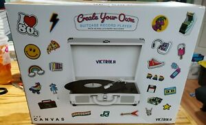 Victrola Create Your Own Suitcase Record Player Bluetooth No Stickers