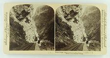 Underwood & Underwood Stereoview the Train Tracks in Royal Gorge, Colorado 1894