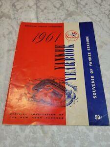 1961 New York Yankee Yearbook Mantle Maris
