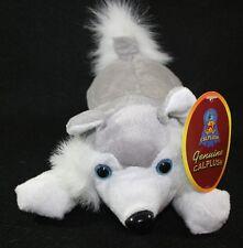 "Siberian Snow Husky Plush Puppy Dog Stuffed Animal 12"" Toy Blue Eyes"