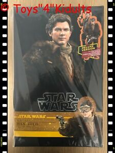 Hot Toys MMS 492 Solo A Star Wars Story Han Solo 1/6 Figure Deluxe Version NEW