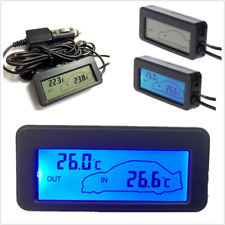 12V Digital Indoor Outdoor Lcd Thermometer Hygrometer Temperature Humidity Meter (Fits: Chrysler Concorde)