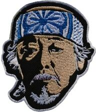 Karate Kid Mr Miyagi Face Embroidered Patch Daniel Larusso Lotus Flower Headband