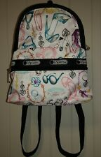 lesportsac small backpack used, glam pattern with heels