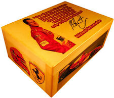 Michael Schumacher figure signed, Ferrari logo, Helmet, F1 Champion, gift box GP