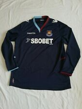 "Preowned West Ham United 2012 - 2013 Long Sleeve Away Shirt Size XXL 48"" Chest"