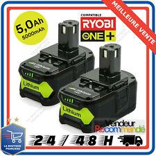 2x Batterie pour Ryobi One Plus 5.0AH 18V RB18L25 RB18L50 P108 P107 P104 P780 FR