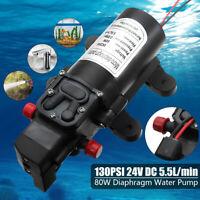 12V/130Psi alta presión diafragma autocebado bomba de agua 5.5L / min 80W lavado