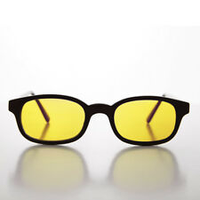 bb0d8c8fbe566 Yellow Color Lens Sunglass Black Rectangle Frame - Zen