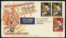 Mayfairstamps Malaysia 1963 Orchid Conference Flowers Creased First Day Cover ww