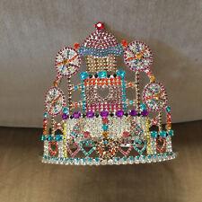 Vintage Child Beauty Pageant Crown Tiara Cupcake Lollipop Kawaii