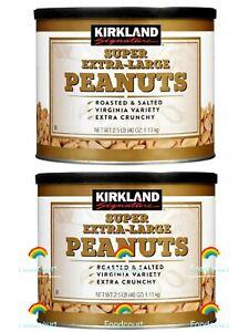 2 Packs Kirkland Signature Super Extra-Large Peanuts 2.5 lbs Each, Total 5 lbs