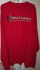 NCAA Rutgers Scarlet Knights Red Long Sleeve Shirt 3XL by Champs