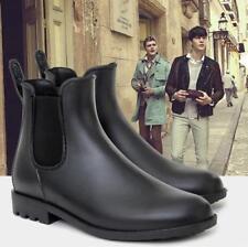 Men's antiskid Chelsea boots ankle Punk high top rain boots waterproof shoes D01