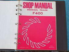 Honda Rototiller Tiller F400 Repair Shop Service Maintenance Manual 1976