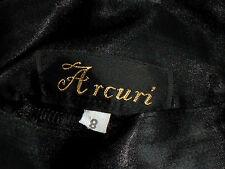 ARCURI HiWaistBlackSatinFrontSwagPartySize8 EUC