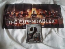 THE EXPENDABLES 2 SteelBook with LAST SUPPER flag/banner Sylvester Stallone BLU