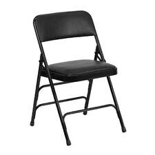 Black Vinyl Fabric Metal Folding Chair