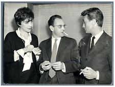 Françoise Prévost, Pierre Kast et Hubert Noel  Vintage silver print Tirage arg