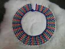 African ZULU Fair Trade Bead LACE COLLAR NECKLACE - Beautifully Handmade #150
