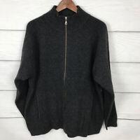 Patagonia Full Zip Sweater Cardigan Size Large L Gray 100% Lambswool Womens