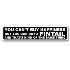 Buy a Fintail sticker 200mm water proof & fade proof vinyl mercedes