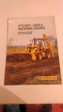 caterpillar 428 backhoe loader brochure