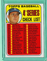 1969 TOPPS #314 4th Series Checklist Don Drysdale Dodgers (unmaked) NrMt NM
