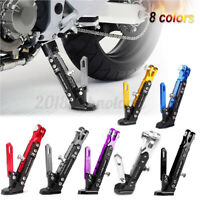 Adjustable Aluminum Alloy Universal Motorcycle Foot Side Support Stand Kickstand