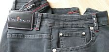 KITON   Men's  Washed  - Dark  Grey  Denim - Jeans   Waist  32   Leather Badge