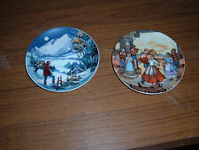 Lot of 2 Avon 1985 American Portraits Plate Collection mini plates