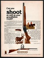 1977 BROWNING 78 Single Shot Rifle AD Vintage Hunting Advertising