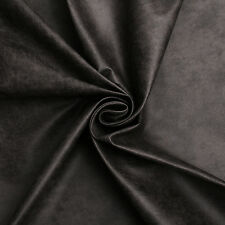 Aged Brown Distressed Antiqued Suede Faux Leather Leatherette Upholstery Fabric Charcoal